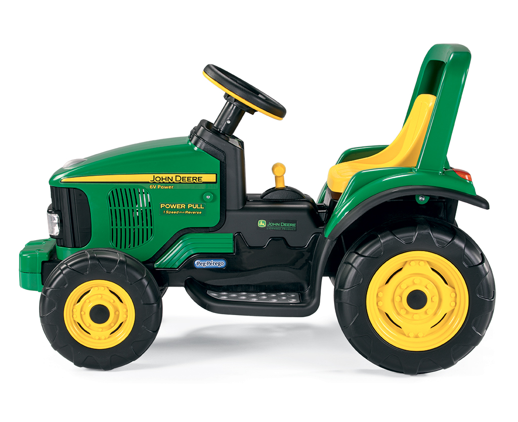 6v peg perego john deere power pull elektro traktor. Black Bedroom Furniture Sets. Home Design Ideas