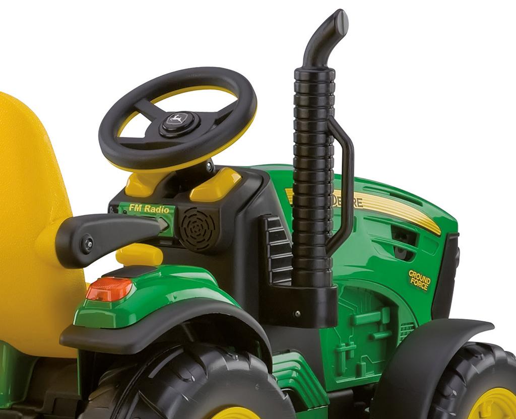 12v Peg Perego John Deere Ground Force Elektro Traktor