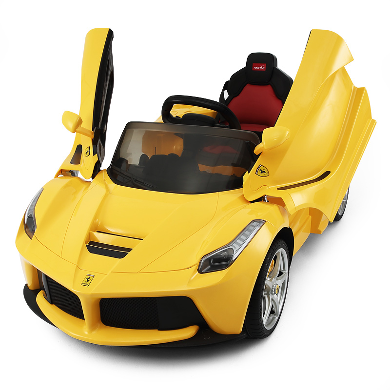 12v ferrari laferrari gelb kinder elektro auto. Black Bedroom Furniture Sets. Home Design Ideas