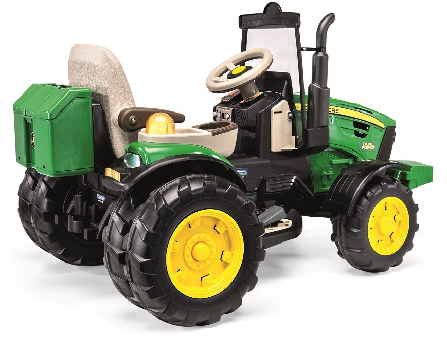 12v peg perego john deere dual force elektro traktor mit 2. Black Bedroom Furniture Sets. Home Design Ideas