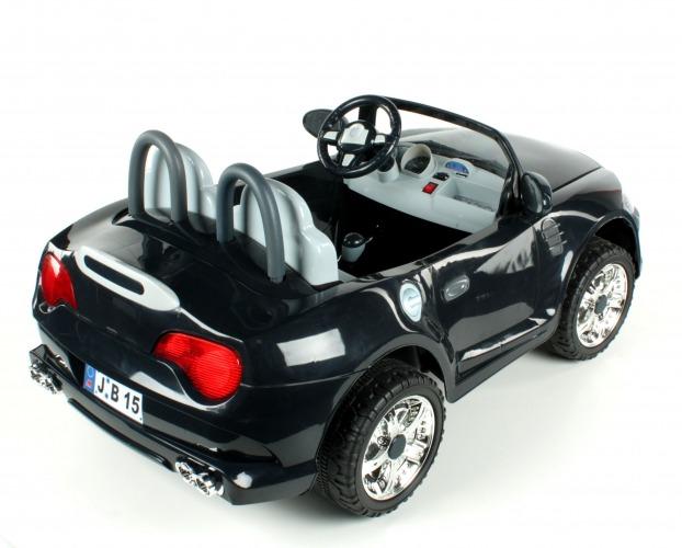 12v cabrio zweisitzer schwarz kinder elektro auto. Black Bedroom Furniture Sets. Home Design Ideas