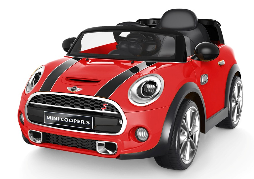 12v mini cooper s kinder elektro auto rot kinderauto online shop. Black Bedroom Furniture Sets. Home Design Ideas
