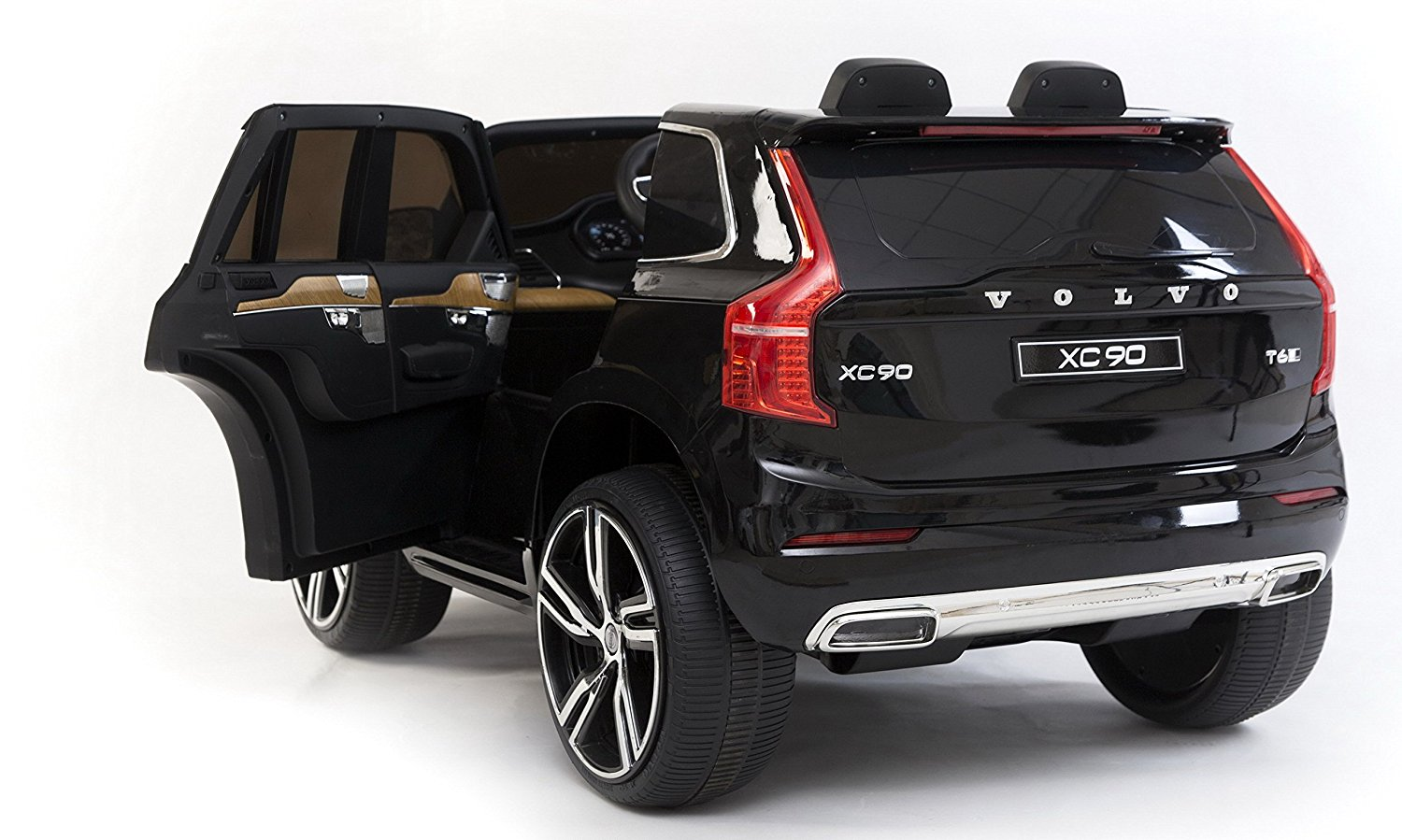 12v volvo xc90 kinder elektro auto zweistizer schwarz kinderauto online shop. Black Bedroom Furniture Sets. Home Design Ideas