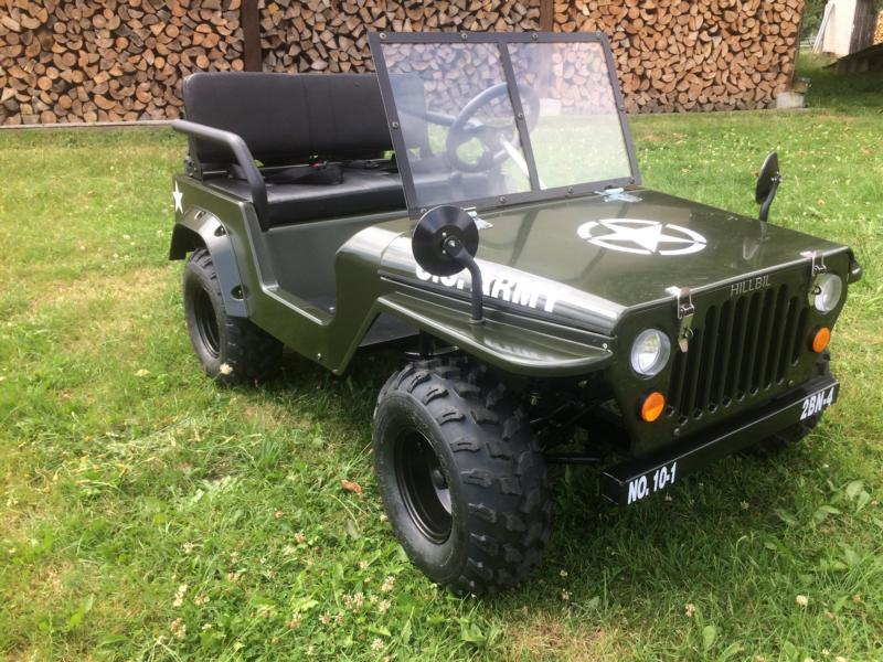 hillbil offroad mini willys jeep 150 ccm benzinmotor. Black Bedroom Furniture Sets. Home Design Ideas