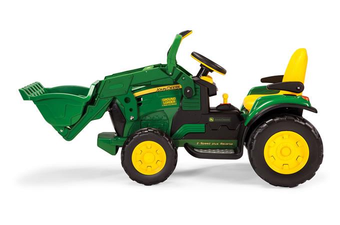 12v peg perego john deere ground loader elektro traktor kinderauto online shop. Black Bedroom Furniture Sets. Home Design Ideas