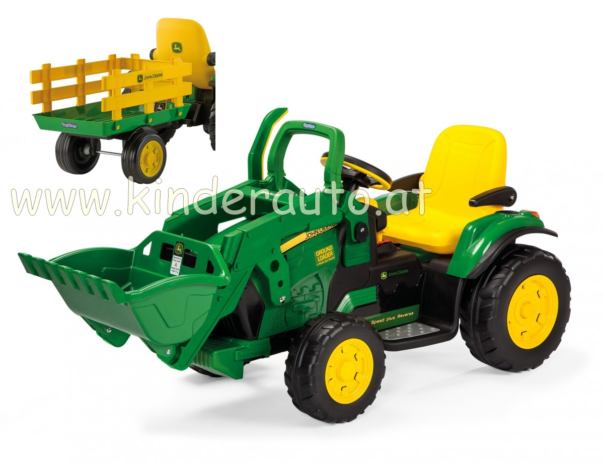 12v peg perego john deere ground loader elektro traktor. Black Bedroom Furniture Sets. Home Design Ideas