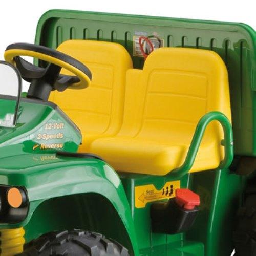 12v peg perego john deere ground loader elektro traktor mit anh nger. Black Bedroom Furniture Sets. Home Design Ideas