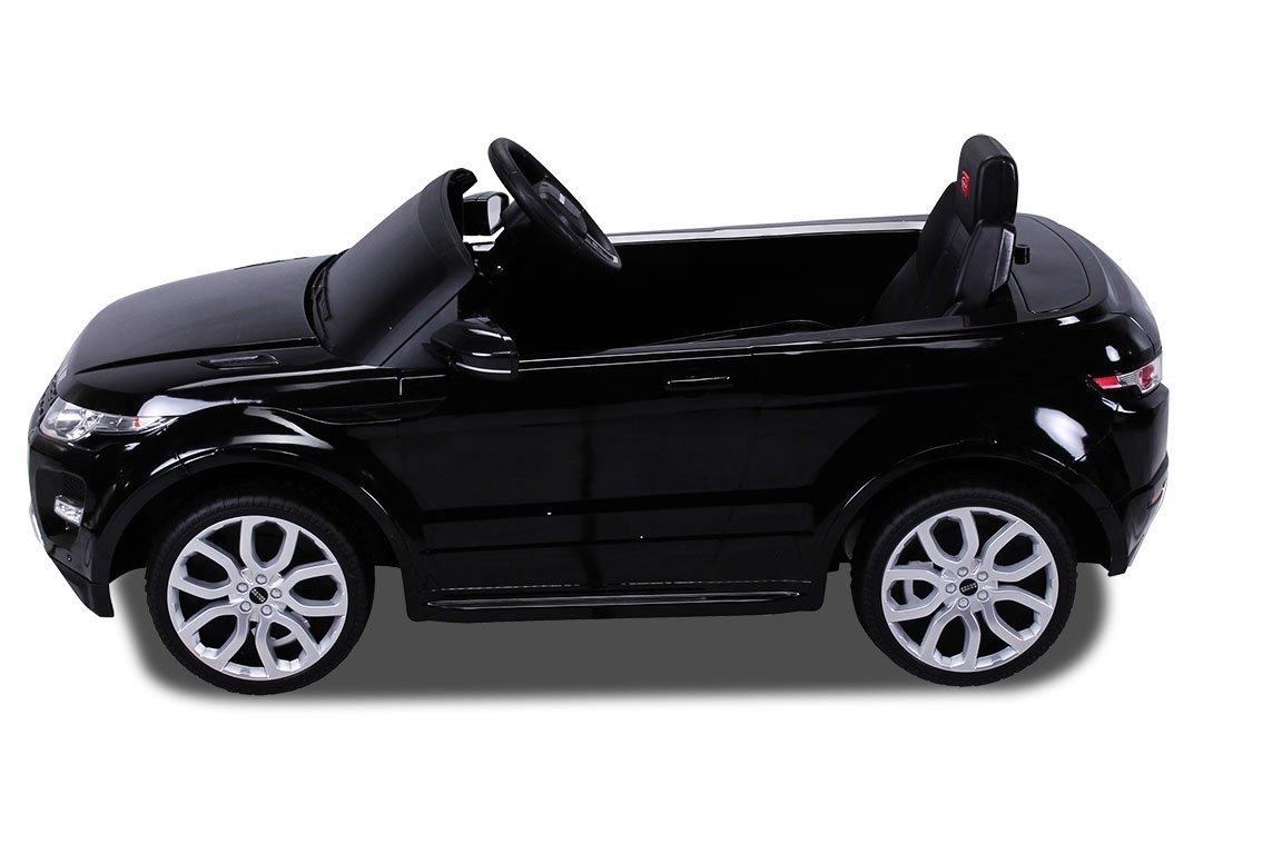 12v range rover evoque schwarz kinder elektro auto land. Black Bedroom Furniture Sets. Home Design Ideas