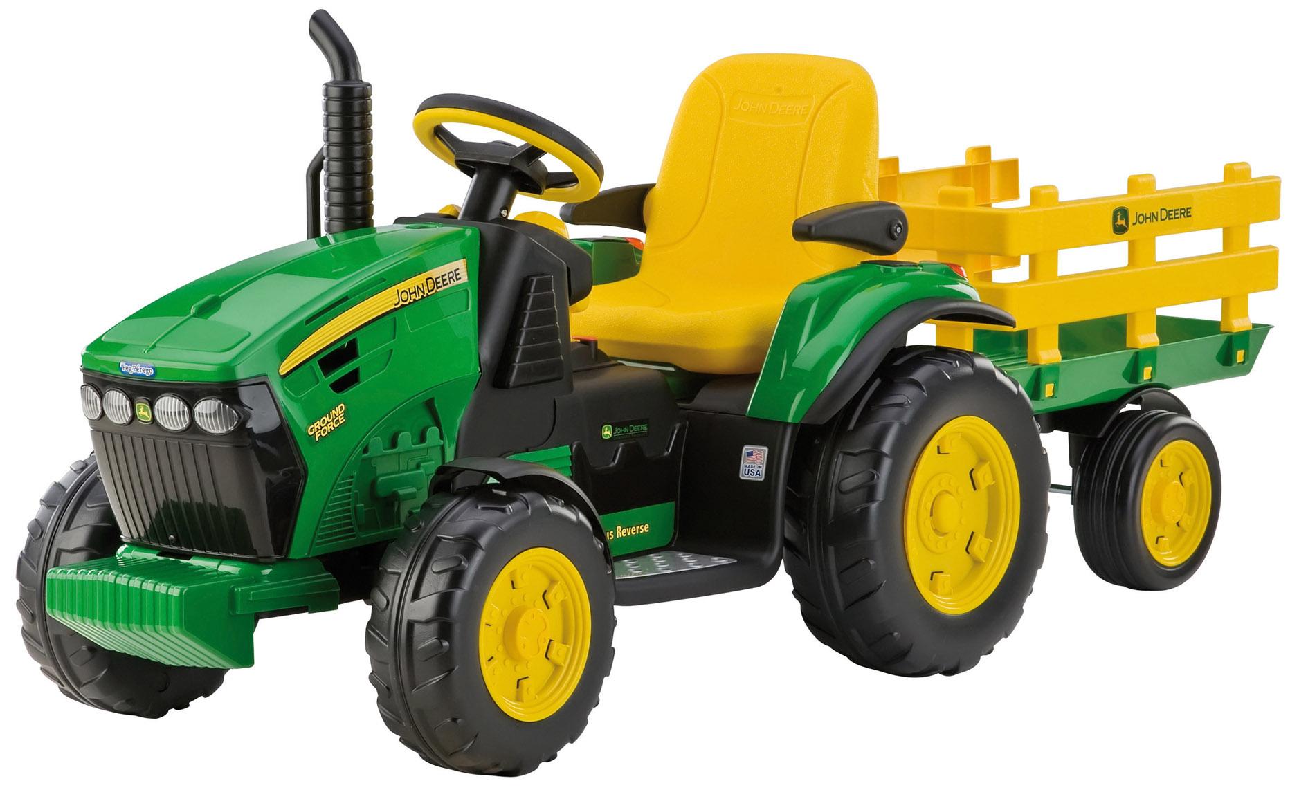 12v peg perego john deere ground force elektro traktor mit. Black Bedroom Furniture Sets. Home Design Ideas