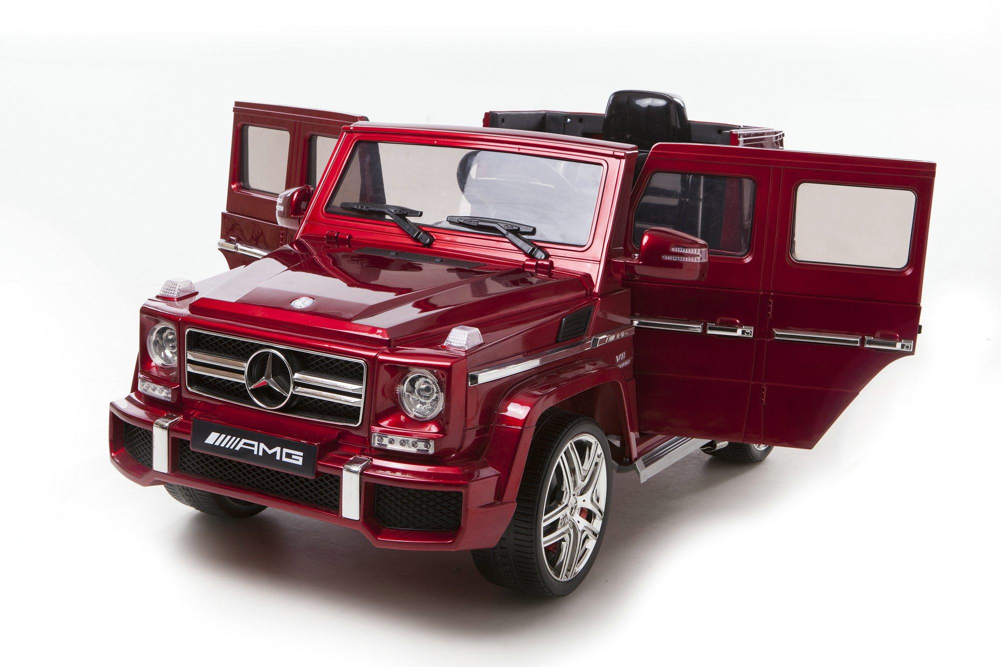 12v mercedes benz g 63 amg rot kinder elektro auto. Black Bedroom Furniture Sets. Home Design Ideas