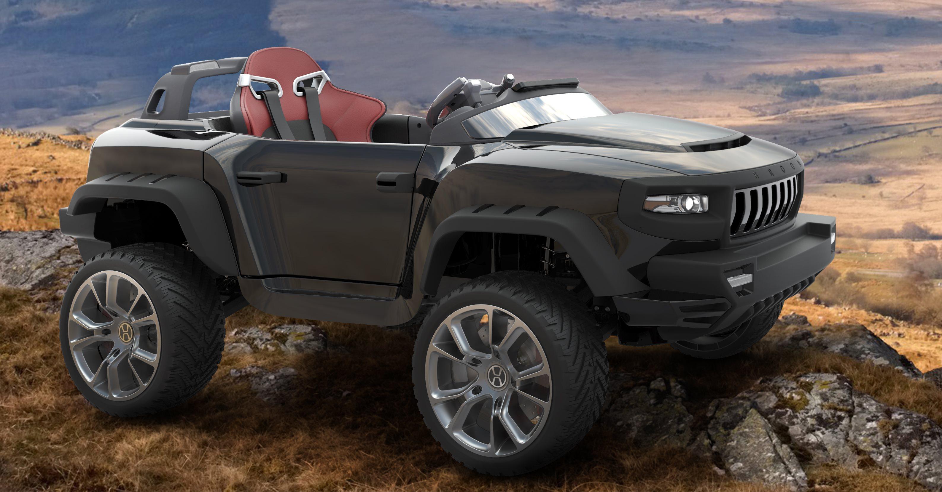 henes broon t870 schwarz luxus kinder elektro auto allrad. Black Bedroom Furniture Sets. Home Design Ideas