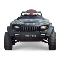 HENES BROON T8 SPORTS army green Luxus Kinder Elektro Auto