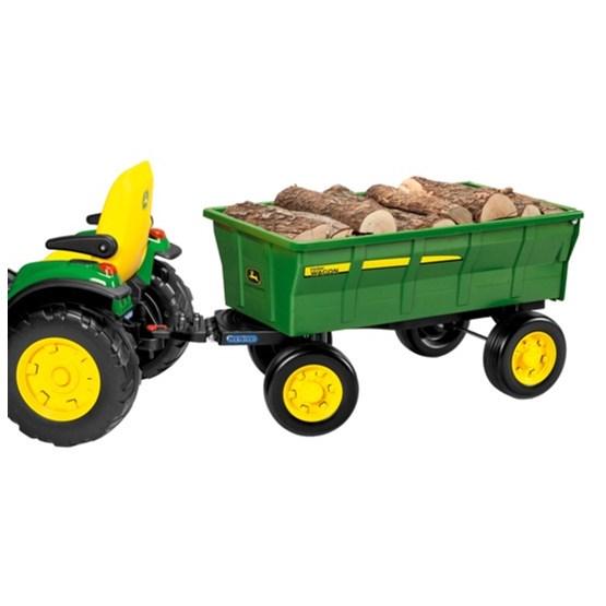 gro er anh nger farm wagon f r john deere elektro traktoren von peg perego kinderauto online shop. Black Bedroom Furniture Sets. Home Design Ideas